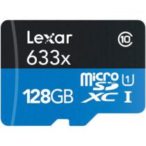 کارت حافظه microSDHC لکسار مدل 633X همراه با آداپتور SD ظرفیت 128گیگ