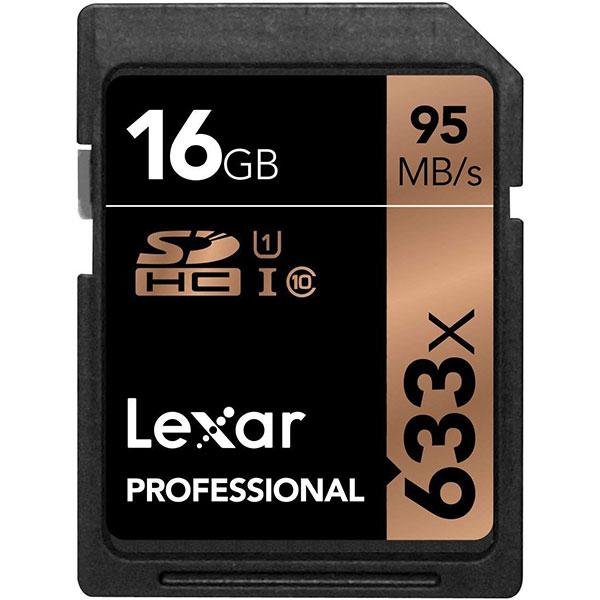 کارت حافظه SDHC لکسار Professional سرعت 95MBps ظرفیت 16گیگ