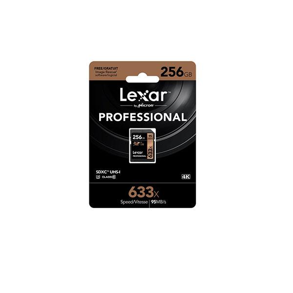 کارت حافظه SDHC لکسار Professional سرعت 95MBps ظرفیت 256گیگ
