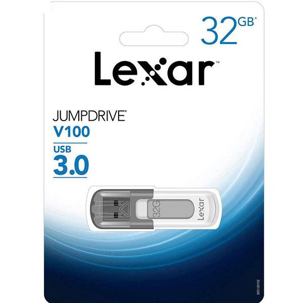 فلش مموری لکسار مدل JumpDrive V100 ظرفیت 32 گیگ
