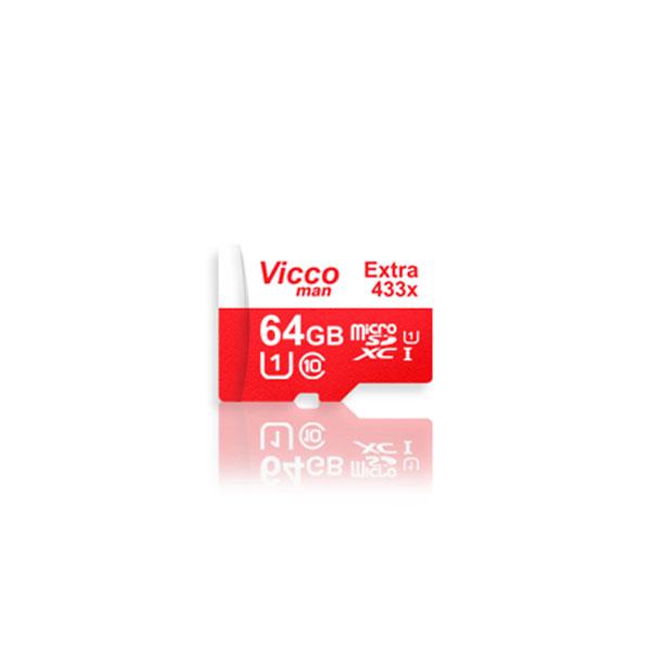 کارت حافظه microSDHC ویکومن مدل 433X ظرفیت 64 گیگ به همراه آداپتور