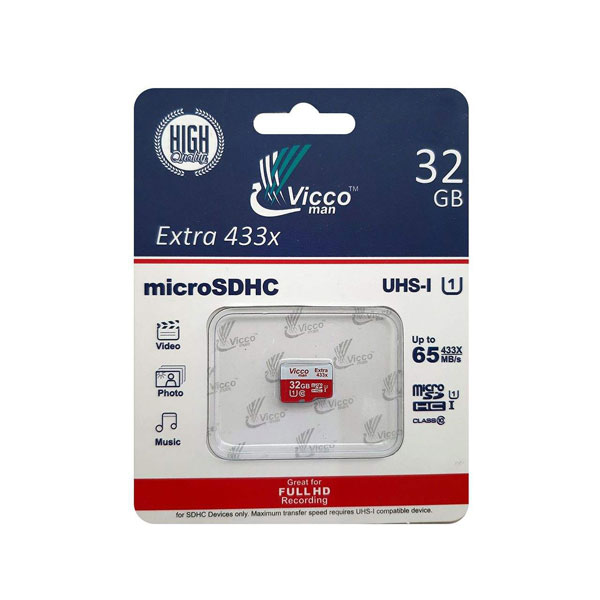 کارت حافظه microSDHC ویکومن مدل Extra 433ظرفیت 32 گیگ