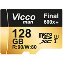 کارت حافظه microSDHC ویکو من مدل Extre600X ظرفیت 128گیگ همراه با آداپتور SD