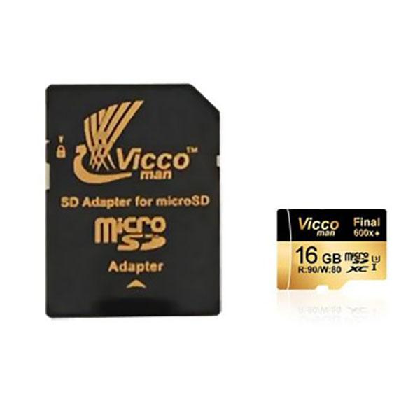 کارت حافظه microSDHC ویکو من مدل Final 600x کلاس 10 استاندارد UHS-I U3 سرعت 90ps ظرفیت 16 گیگابایت