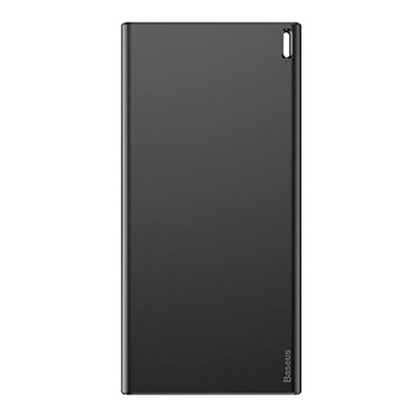 پاور بانک باسئوس مدل PPALL-QK1G ظرفیت 10000 میلی آمپر سیاه و خاکستری