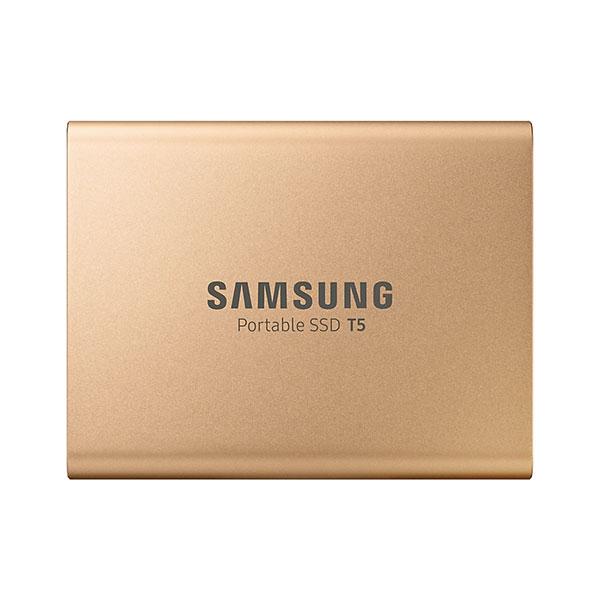 حافظه SSD اکسترنال سامسونگ مدل T5 ظرفیت 1 ترابایت طلایی