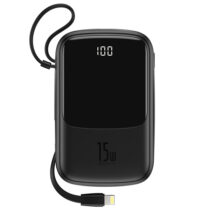 پاوربانک Lightning مدل Baseus PPQD-B01 Power Bank Q pow Digital Display با ظرفیت 10000mAh سیاه