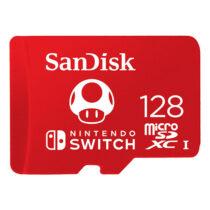 کارت حافظه microSDXC سن دیسک مدل Nintendo Switch کلاس I استاندارد UHS-I سرعت 100MBps ظرفیت 128 گیگابایت