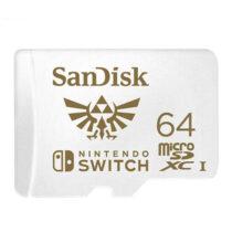 کارت حافظه microSDXC سن دیسک مدل Nintendo Switch کلاس I استاندارد UHS-I سرعت 100MBps ظرفیت 64 گیگابایت